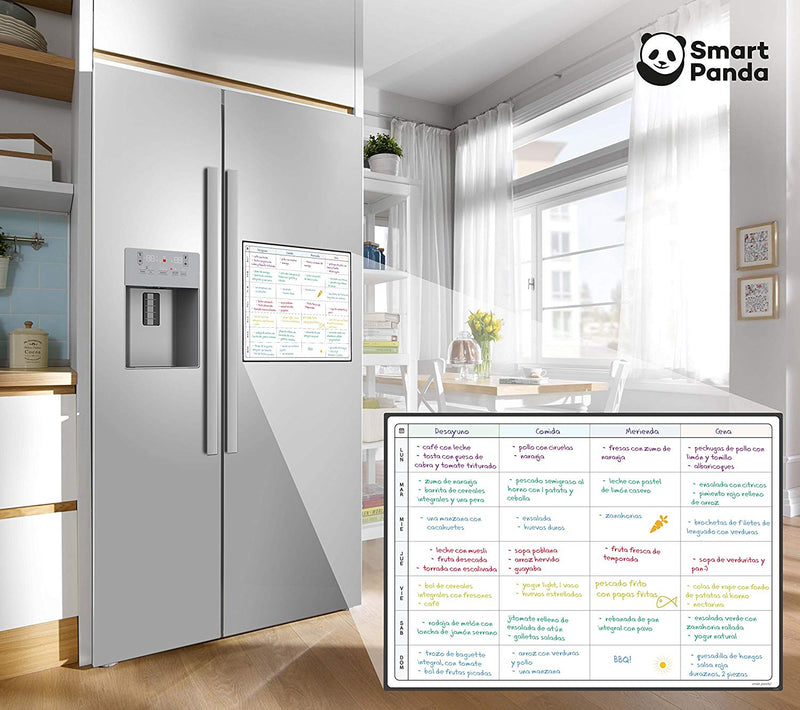 Magnetic Fridge Whiteboard, Planner - in Spanish