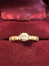 10K Yellow Gold Diamond Engagement Ring Size 6.75