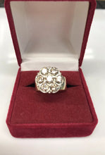 14K Yellow Gold Diamond Cluster Ring 1.05TCW