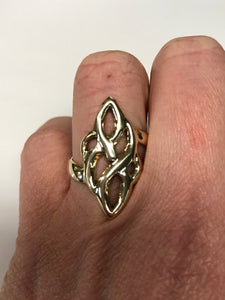 10K Yellow Gold Ornate Design Ring
