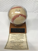Greg Maddox 1996 Signed World Series Baseball