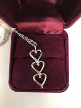 925 Sterling Silver Diamond Accent Heart Pendant with Necklace
