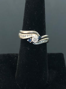 .56 ct tw Diamond & Sapphire Wedding set