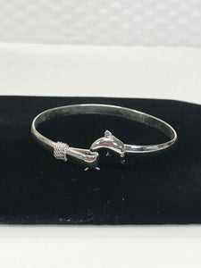 925 Sterling Silver Dolphin Clasp Bracelet