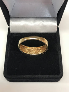 Men's 10K Yellow Gold Nugget Ring