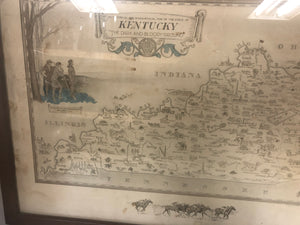 Historical & Geographical Map of Kentucky