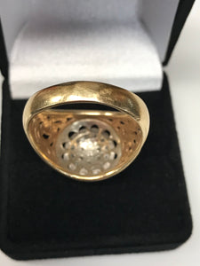 10K Men's Kentucky Cluster Diamond Ring