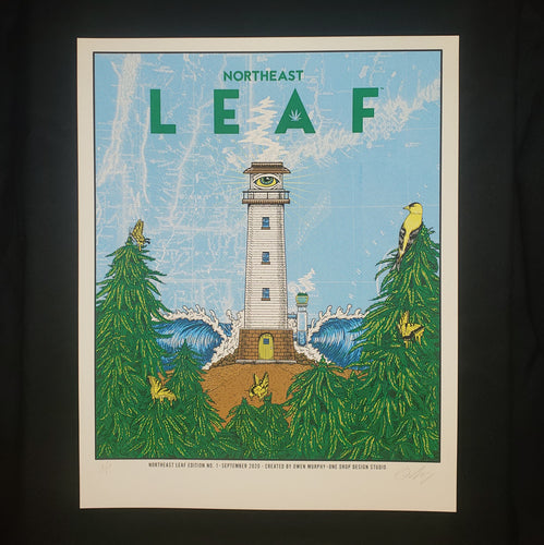 North East Leaf Lighthouse- Cover Art Print AP
