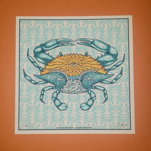 ODDS-Crab 8x8 Mini Screen Print