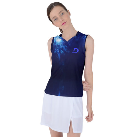 Dilfa Women's Sleeveless Elastic Workout Sports Top