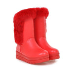 Mid-tube wedge snow boots