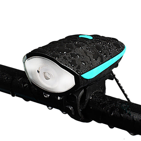 Rechargeable Bicycle HeadLight with Horn