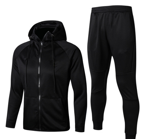 Winter warm black polyester hoodie sportswear for man