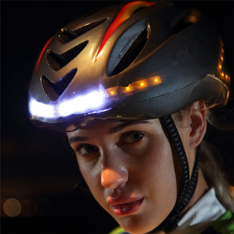 Intelligent steering helmet led bicycle equipment