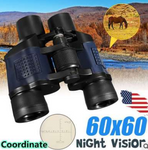60x60 binocular with coordinates night vision high power high definition red film telescope