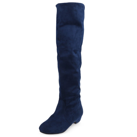 Round Toe Knee Length Boots for Woman