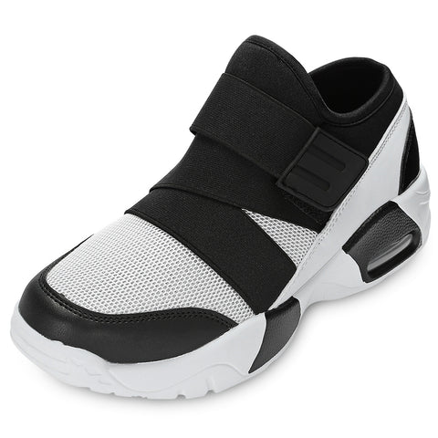 Casual Round Toe Mesh Spliced Hook and Loop Men Sneakers