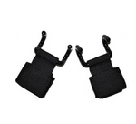 Rotatable power double hook pull-up belt - Weight lifting double gripper hook