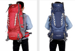 Outdoor mountaineering backpack men and women travel bags 80L sport double shoulder