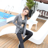 Yoga clothing three-piece women's sports fitness cardigan