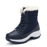 Plus velvet high-top women's shoes waterproof snow boots