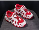 Canvas mesh breathable fashion casual running female shoes