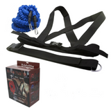 Double explosive force trainer - running resistance band pull rope stretch track