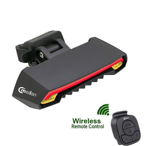 Smart LED Wireless Bicycle Tail Light USB recharge