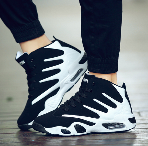 Men Air Cushion Basketball Shoes Wear-resistant Sneakers