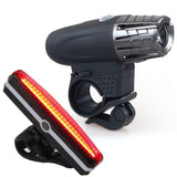 USB charging headlight taillight set