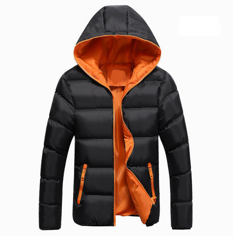 Winter Thick men's puffer padded hooded jacket