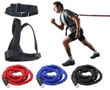 Double explosive force trainer - running speed resistance band pull rope stretch track