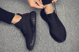 Men's shoes summer breathable flying woven mesh gym running shoes