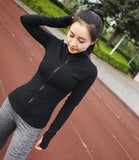 Aerfey Long Sleeve Women Zipper Jacket Tracksuits for Running Yoga Fitness