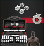 15 Kg dumbbell and barbel in 1 design made of pure steel for exercise at home