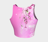 Dilfa Moon Flowers Athletic Crop Top