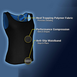 Fat burning abdomen fitness sweat vest running sportswear