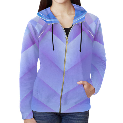 Vital Power Zip up Hoodies  - Elastic Sportswear Hoodie for Woman