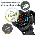 DK02 Round Smartwatch IP67 Waterproof Wearable Device Heart Rate Monitor Color Display Smart Watch For Android IOS