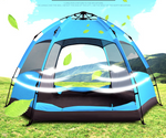 Hexagonal Water Resistant Double Layers Automatic Camping Family Tent