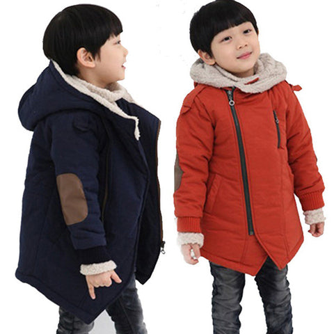 Children Winter Hoodies Jackets With Fur