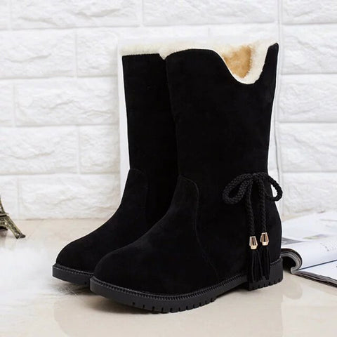Winter Suede heeled Boots for Women