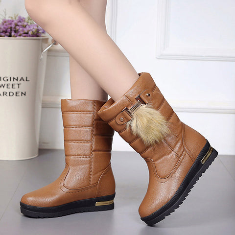 Women's Winter Shoes Warmful Women Winter Boots Mid Calf Snow Boots