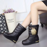 Women's Winter Leather High Heel Boots