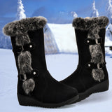Women's Fluffy Heel Boots for Winter