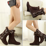 Women's Boots Winter Boots Warm Mid Calf Boots Warm Winter Shoes