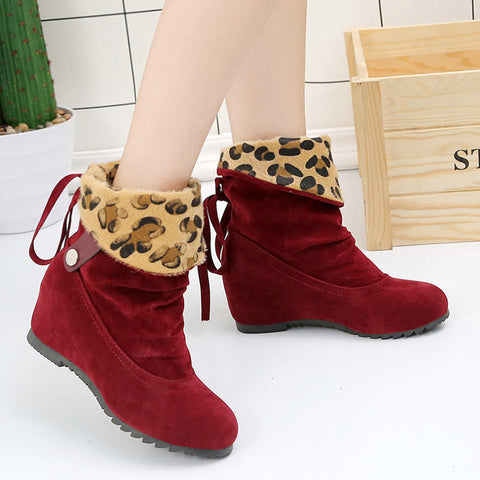 Women's Boots Leopard Design for Winter