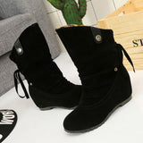 Women's Boots Leopard Winter Boots Warm Mid Calf Boots Warm Winter Shoes