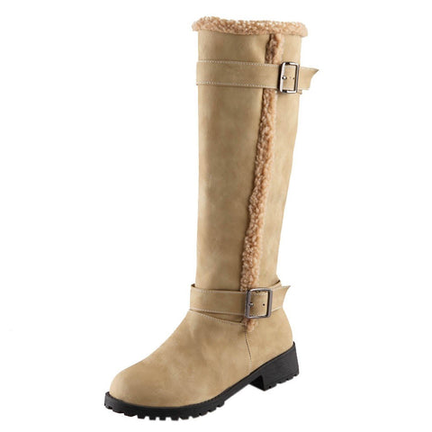 Women Winter Snow PU High Boots