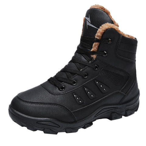Winter Men Leisure Keep Warm Shoe Wear Resistant Non-slip Thick Bottom Snow Boot